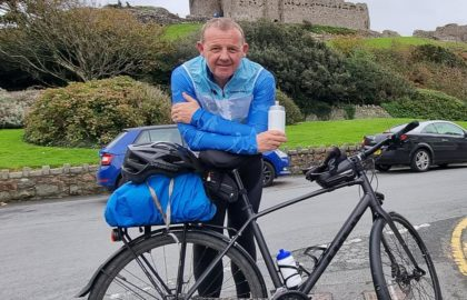 Read more about Gary's cycling challenge – update